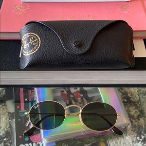 Ray Ban oval flat sunglasses